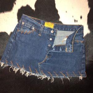 Vintage Levi's denim mini skirt, 28 waist